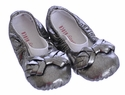 Bloch Infant Leather Ballet Slippers Dark Silver