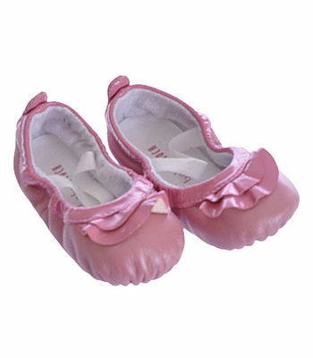 Bloch Pink Leather Ballet Slippers