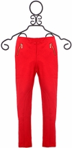 Blu by Blu Fashion Red Pants with Zippers