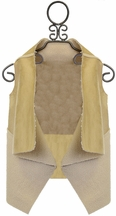 Blu by Blu Girls Lined Suede Vest Glamour