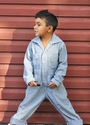 Blu Pony Vintage Blue Coveralls with Pin Stripes