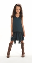 Blu Pony Vintage Emerald Chiffon Girls Dress Desiree