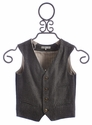 Blu Pony Vintage Girls Button Vest in Herringbone