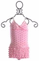Bluebelle Ruffled Pink Heart Cami and Panty Set
