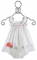Bonne Little Girls Becca Dress with White Bloomers