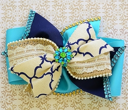 Bratti Mati Wonderstruck Teal Hair Bow