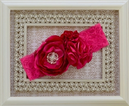 Bright Pink Headband for Girls by LaBella Flora