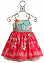 Butterfly Fantasia Dress by Moxie & Mabel in Red