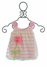 Cach Cach Baby Girls Romper in Pink