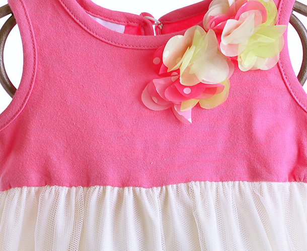 Cach Cach Baby Romper Ivory And Pink Petals