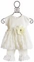 Cach Cach Babydoll Set with Ruffled Pant