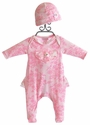 Cach Cach China Doll Girls Newborn Footed Romper