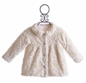 Cach Cach Faux Fur Ivory Winter Coat for Girls