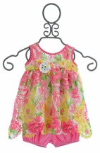 Cach Cach Garden Party Two-Piece Bloomer Short Set (Size 6Mos)