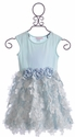 Cach Cach Girls Party Dress in Blue Icy