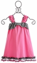 Cach Cach Girls Ruffled Pink Dress