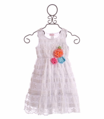 Cach Cach Girls White Lace Summer Dress Tutti Frutti