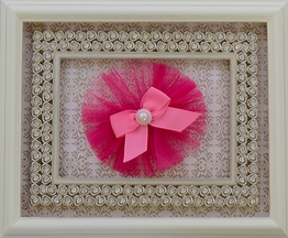Cach Cach Hot Pink Tulle Hair Clip