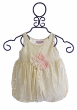 Cach Cach Infant Romper in Sugar Frosted Lace