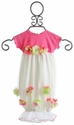 Cach Cach Ivory and Pink Petals Newborn Take Home Gown