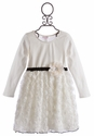 Cach Cach Ivory Bowtique Girls Long Sleeve Dress