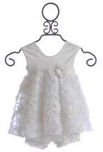 Cach Cach Ivory Flower Girl Dress with Bloomer (6/9Mos & 18Mos)