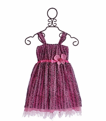 Cach Cach Little Girls Dress Leopard Hearts Gone Wild
