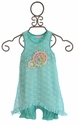 Cach Cach Little Girls Dress with Bloomers in Crochet Blue