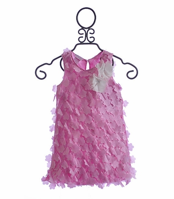 Cach Cach Little Girls Dress with Bubble Hem Pretty in Pink