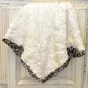 Cach Cach Little Girls Faux Fur Blanket in White