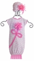 Cach Cach Newborn Girls Couture Gown and Hat