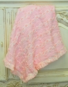 Cach Cach Pink Baby Blanket with Rosettes