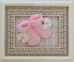 Cach Cach Pink Baby Booties Petite Bouquet