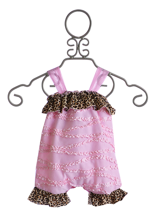 Cach Cach Pink Baby Romper For Girls