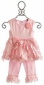 Cach Cach Pink Flutter Girls Swing Set with Ruffled Pant