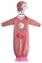 Cach Cach Pink Newborn Gown Fuzzy Kitty