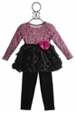 Cach Cach Pink Panther Toddler Bubble Hem Dress with Legging