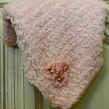 Cach Cach Ruffle Pink Baby Blanket