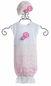Cach Cach Sugar Baby Gown with Hat in Pink