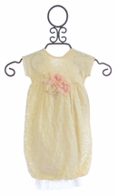 Cach Cach Sugar Frosted Lace Baby Gown