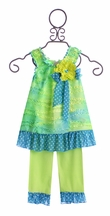 Cach Cach Summer Capri Outfit Tropical Punch (Size 12Mos)