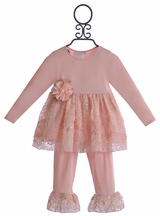 CachCach Fancy Girls Top and Pants Outfit (6Mos, 9Mos, 2T, 4T)