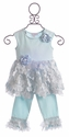 CachCach Icy Blooms Girls Capri Outfit