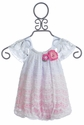 CachCach Infant Girl Bubble in Pink and White