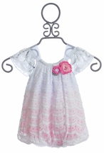 CachCach Infant Girl Bubble in Pink and White (Size 24Mos)