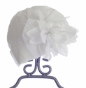 CachCach Infant Girls Hat in Ivory