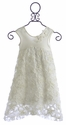 CachCach Ivory Flower Girls Dress - Cream Pie