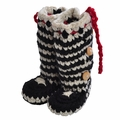 Chi Bella INFANT Boots Black and White Stripe