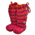 Chi Bella INFANT Boots Orange and Pink Knee Highs