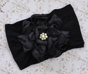Classy Baby Angelica Black Headband with Flower